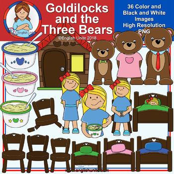Clip Art - September Freebie - Goldilocks and the Three Bears