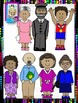 Clip Art~  Set 2: Black History Month Now and Then