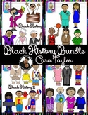 Clip Art~  Sets 1 and 2: Black History Month Now and Then Bundle
