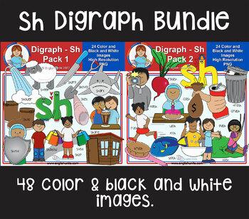 Clip Art - Sh Digraph Bundle (Sh Pack 1 & 2)