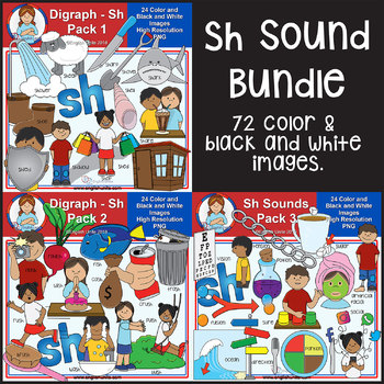 Clip Art - Sh Sounds Bundle (Sh Pack 1, 2 & 3)