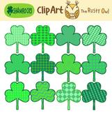 Clip Art Shamrocks