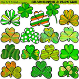 Clip Art Shamrocks & Clovers