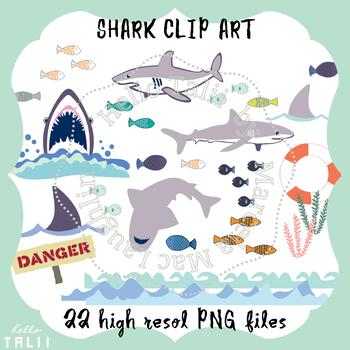 Clip Art: Sharks