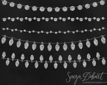 Clip Art - Silver Glitter Lights