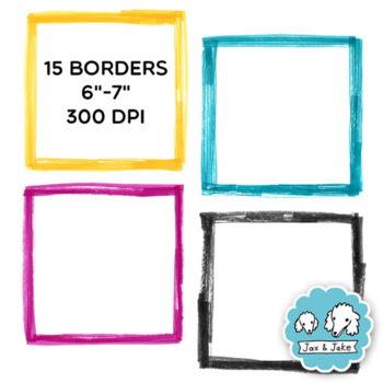 Clip Art: Sketchy Marker Square Border Set For Personal and Commercial Use
