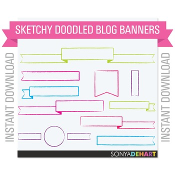 Clipart - Sketchy Banners