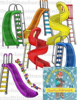 Clip Art: Slide and Step into Back to School by HeatherSArtwork