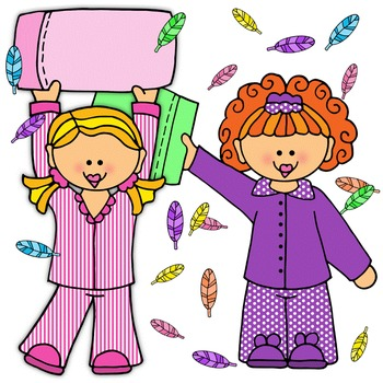 Clip Art~ Slumber Party ~ Pillow Fight