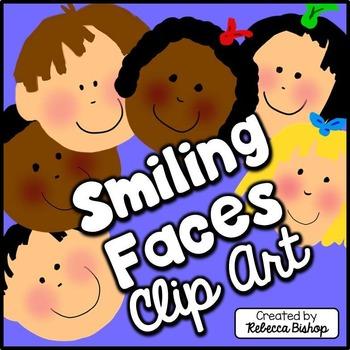 Clip Art Smiling Faces {Free Clip Art}
