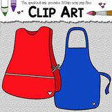 Clip Art Smocks and Aprons. School Supply clipart. 22 pieces