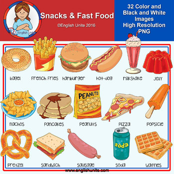 Clip Art - Snacks and Fast Food