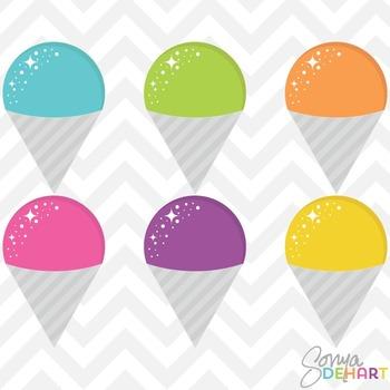 Clipart - Snow Cones