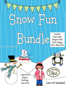 Clip Art - Snow Fun Bundle (4 products!)