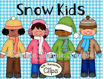 Clip Art - Snow Kids