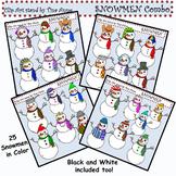 Clip Art Snowmen Combo