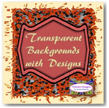 Clip Art: Solid Frames/Boarders with Transparent Background Designs
