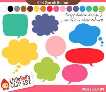 Speech Balloon Clipart -Solid 128 Graphics