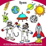 Space Clip Art by Jeanette Baker