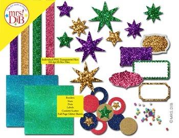 Clip Art - Sparkle ! (Glitter Art)   ORIGINAL ARTWORK