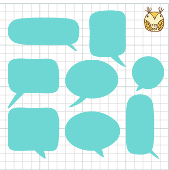 Clip Art Speech and Thought Bubbles