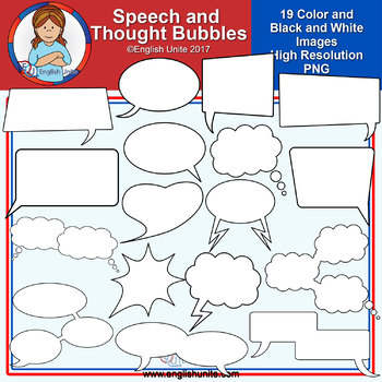 Clip Art - Speech and Thought Bubbles