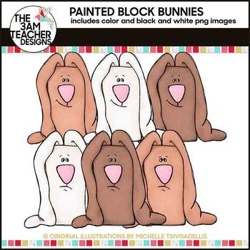 Clip Art: Spring Block Bunnies