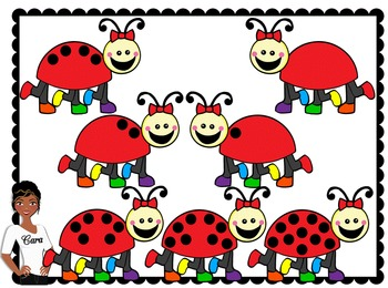 Clip Art~ Spring Counting Ladybugs