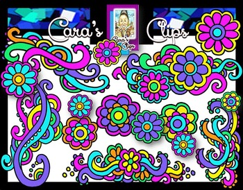 Clip Art~  Spring Doodle Accents and Flowers