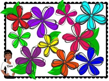 Clip Art~ Spring Flowers