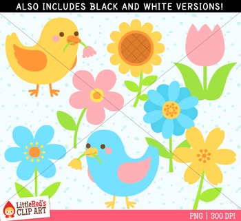 Spring flowers clipart by littlered teachers pay teachers spring flowers clipart mightylinksfo