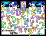 Clip Art~ Springtime Flowers Alphabet with Bonus Clip Art!