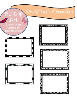 Clip Art Square Patterned Frames (Shapes)