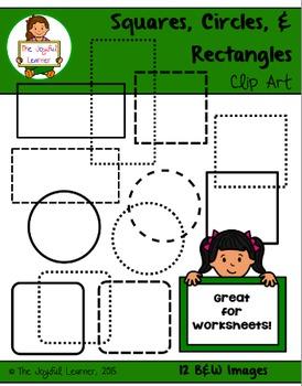 Clip Art: Squares, Circles, & Rectangles FREEBIE