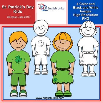 Clip Art - St. Patrick's Day Kids Freebie