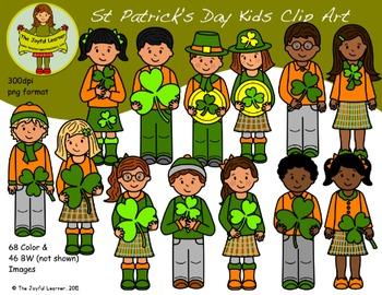 Clip Art: St. Patrick's Day Kids - Huge Set!