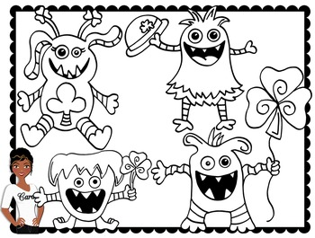 Clip Art~ St. Patrick's Day Monsters
