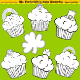 Clip Art St. Patricks Day Sweets in black and white