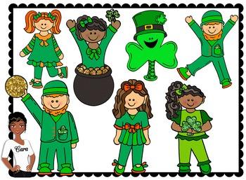 Clip Art~ St. Patrick's Day Teacher Design Kit