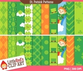 St.Patricks Day Digital Paper Patterns