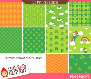 St.Patricks Day Digital Paper Patterns