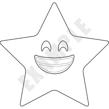 Clip Art: Star Emojis! Stars with Emoticon faces