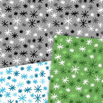 Clip Art: Starry Style Star Pattern Digital Papers Personal and Commercial Use