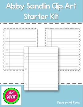 Clip Art Starter Pack {Paper Clip Art}