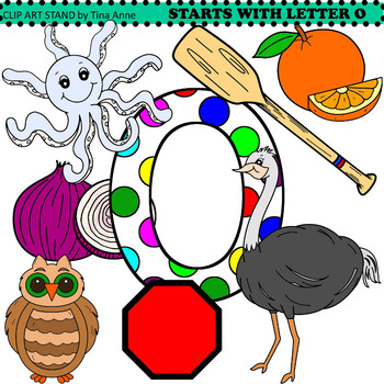 Clip Art Starts With Letter O by Clip Art Stand by Tina Anne | TpT