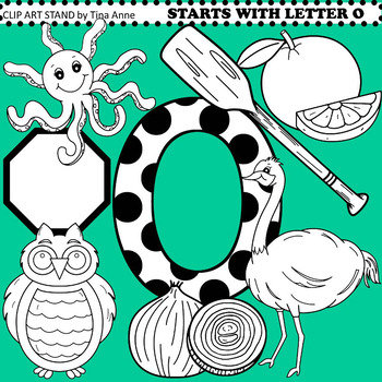 Clip Art Starts With Letter O