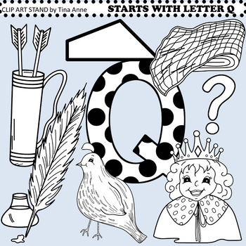 Clip Art Starts With Letter Q By Clip Art Stand By Tina Anne Tpt