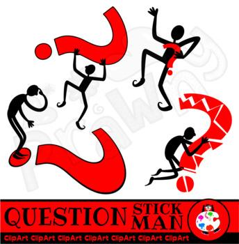 Clip Art Stick Man Questioning