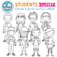 Clip Art: Students / Kids Back to School Clipart Personal Commercial Use OK