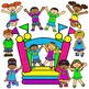 Clip Art~ Summer Bouncy House ~ Ball Pit Party!